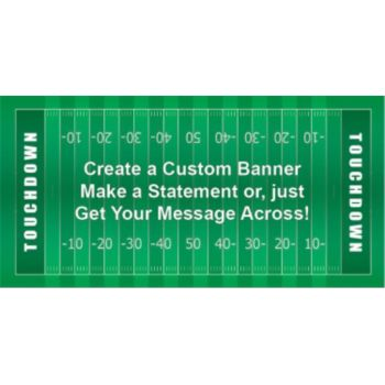 Football Yard Lines Custom Banner