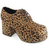 Leopard Print Pimp Adult Shoes - Large (12-13)