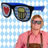 I Heart Oktoberfest Neon Billboard Sunglasses