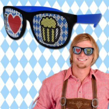 I Love Oktoberfest Neon Billboard Sunglasses