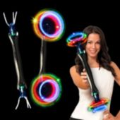 Double Spinner LED Baton Wand - 16.5 Inch