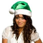 Green Plush Santa Hat