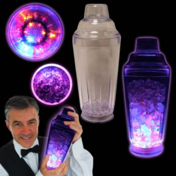 Flashing LED Cocktail Shaker