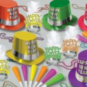 Multi-Color Neon New Year's Eve Party Kit For 50