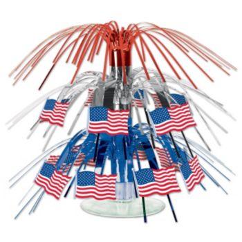American Flag Cascade Centerpiece