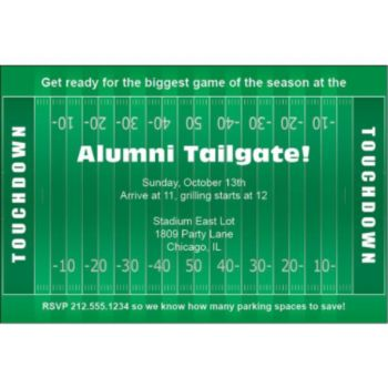 Football Field Personalized Invitations