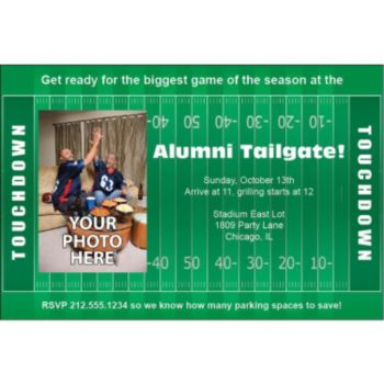 Football Field Personalized Photo Invitations