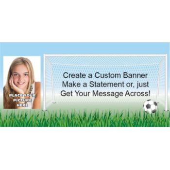 Soccer Score Custom Photo Banner