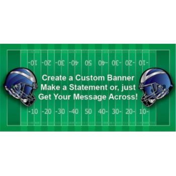 Football Helmets Custom Banner