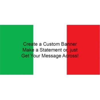 Italian Flag Custom Banner
