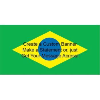 Brazil Flag Custom Banner
