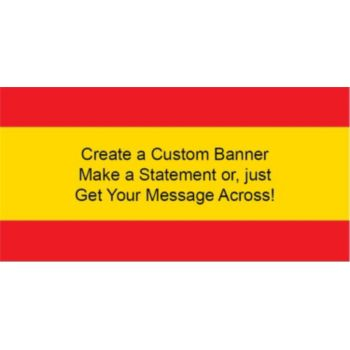 Spanish Flag Custom Banner