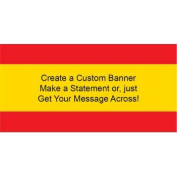 Spanish Flag Custom Banner