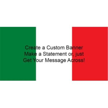Mexican Flag Custom Banner