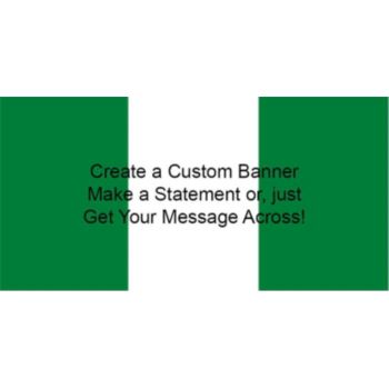Nigerian Flag Custom Banner