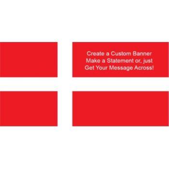 Denmark Flag Custom Banner
