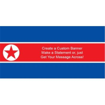 North Korea Flag Custom Banner