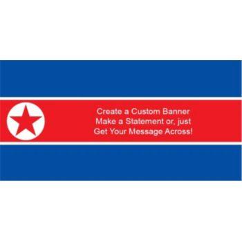 North Korea Flag Custom Banner