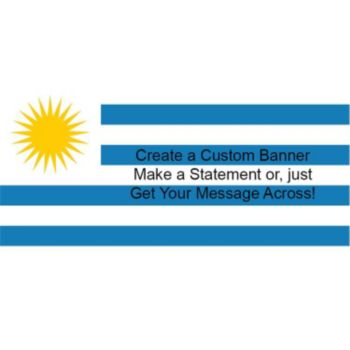 Uruguayan Flag Custom Banner