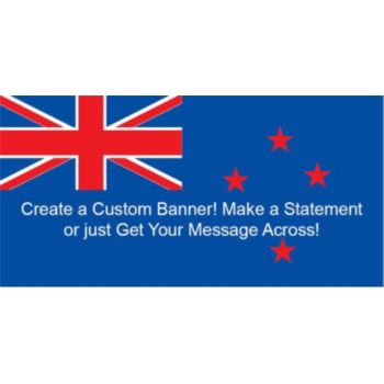 New Zealand Flag Custom Banner