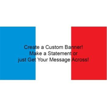 France Flag Custom Banner