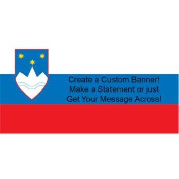Slovenia Flag Custom Banner