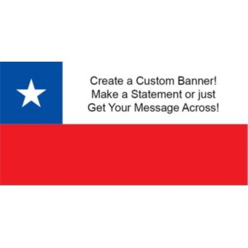 Chile Flag Custom Banner