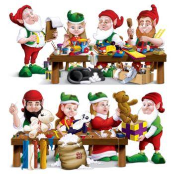 Santa's Elf Workshop Scene Setter Props