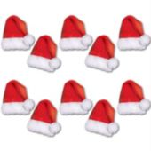 Mini Santa Hat Cutouts-10 Per Unit