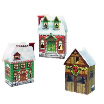 Christmas Village Favor Boxes - 3 Pack
