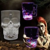 Light Up Skull Glass