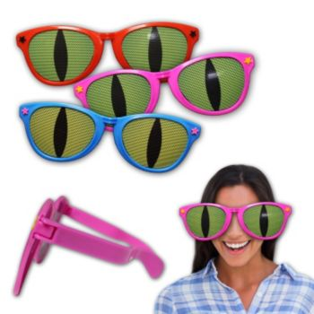 Assorted Color Jumbo Cat Eye Billboard Sunglasses - 4 Pack