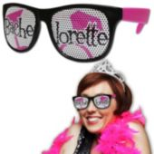 Neon Pink Bachelorette Billboard Sunglasses
