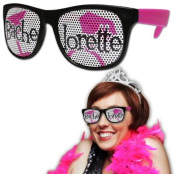Neon Pink Bachelorette Billboard Sunglasses