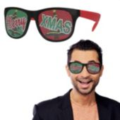 Red Merry Xmas Billboard Sunglasses