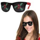 Red Christmas Holly Billboard Sunglasses