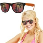 Neon Orange Tropical Billboard Sunglasses