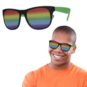 Neon Green Rainbow Billboard Sunglasses