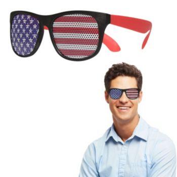Neon Red American Flag Billboard Sunglasses