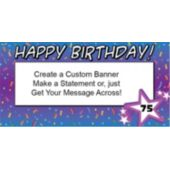 Custom Age Birthday Confetti Custom Banner
