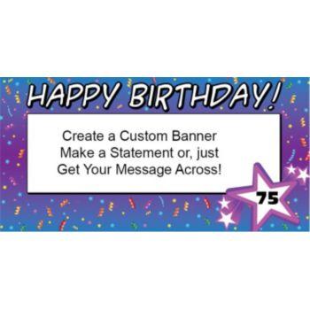 Custom Age Birthday Confetti Custom Banner