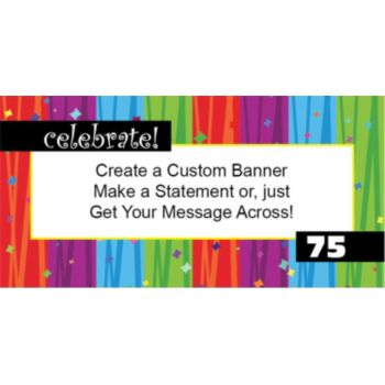 Custom Age Rainbow Birthday Custom Banner