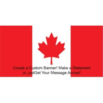 Canadian Flag Custom Banner