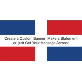 Dominican Republic Flag Custom Banner