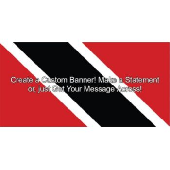 Trinidad and Tobago Flag Custom Banner