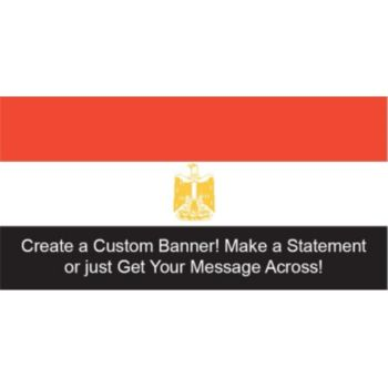 Egyptian Flag Custom Banner