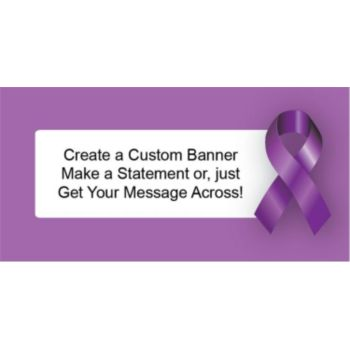 Purple Awareness Ribbon Custom Banner