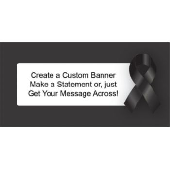 Black Awareness Ribbon for Melonoma Custom Banner