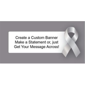 Silver Awareness Ribbon Custom Banner