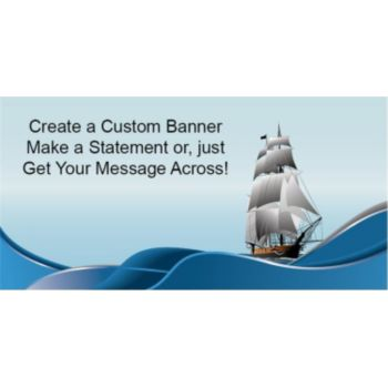 Nautical Sailing Ship Custom Banner